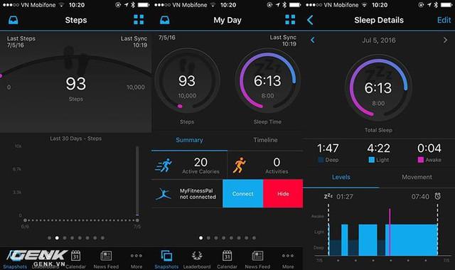 Ứng dụng trên smartphone cung cấp những thông số một cách chi tiết.