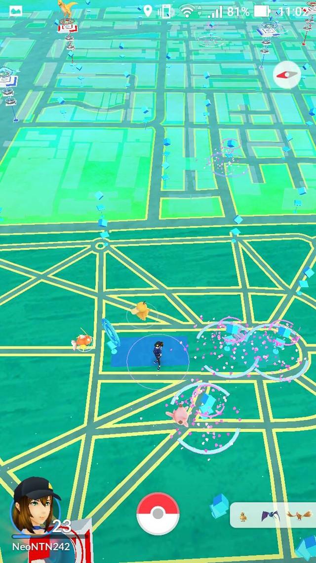 So với một tài khoản ở Úc, có thể thấy lượng Pokémon phong phú hơn nhiều