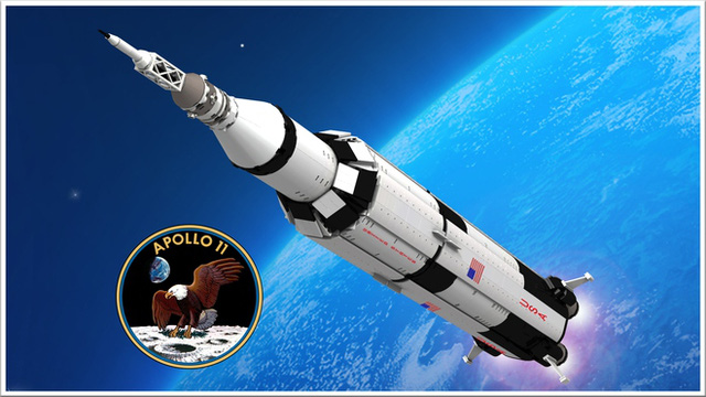 Ảnh dựng của tàu Apollo 11.