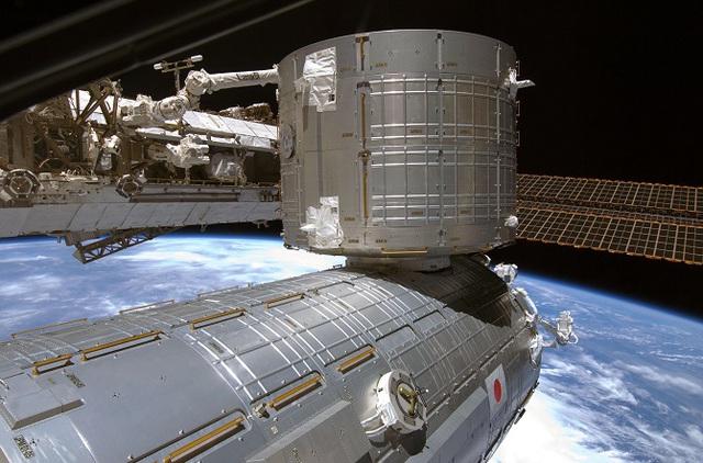 Mô-đun Kibo của Nhật Bản trên trạm vũ trụ quốc tế ISS.
