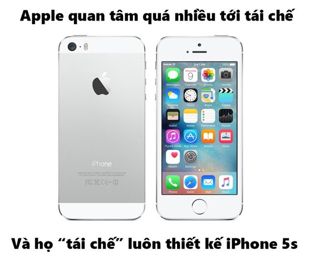 Apple tái chế hơi quá đà.