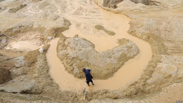 Mỏ khoáng sản thường thấy ở Giang Tây, Trung Quốc.