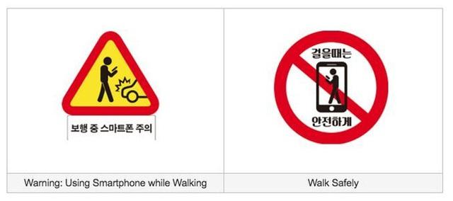 2 loại biển báo mà chính quyền Hàn Quốc sử dụng.