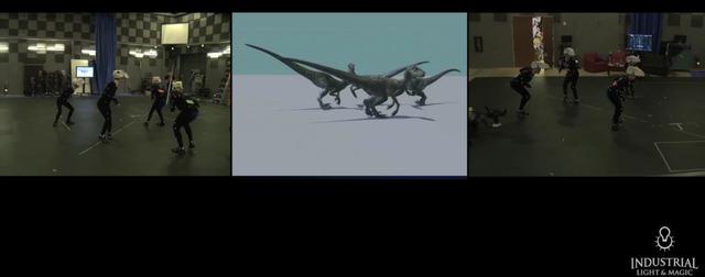 Nhiều con trong số chúng được mô phỏng chuyển động dựa trên chuyển động của người thật. Họ đội những chiêc đầu khủng long và mô phỏng chuyển động của chúng.