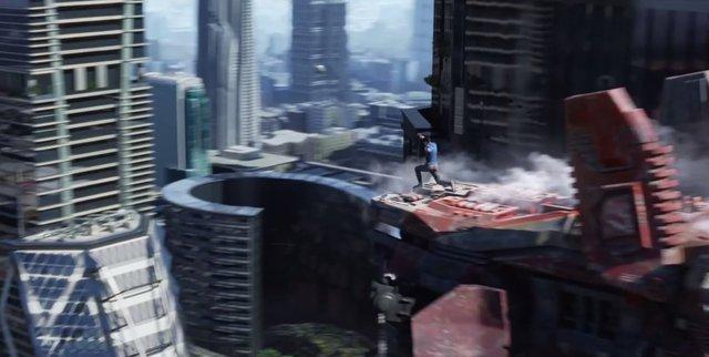 """Zachary Quinto đang nhảy qua những tòa nhà cao tầng trong phim """"Star Trek chìn trong bóng tối…"""