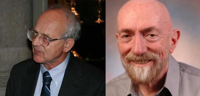 Hai nhà vật lý học Rainer Weiss đến từ MIT (trái) và Kip Thorne đến từ Viện Công nghệ California (phải)