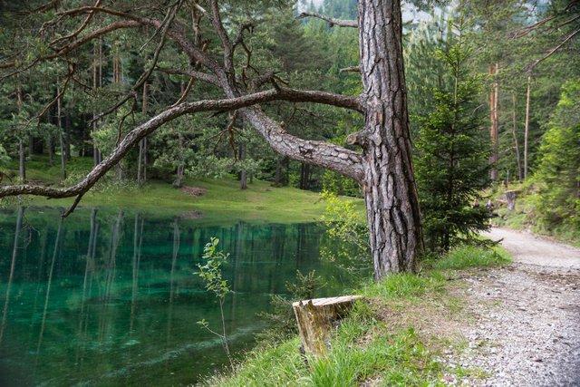 Trong mùa đông lạnh giá, mực nước trong hồ chỉ còn khoảng từ 1 đến 2 mét.