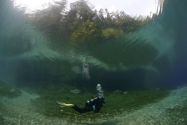 Lượng nước trong hồ có thể đạt tới 12 mét.