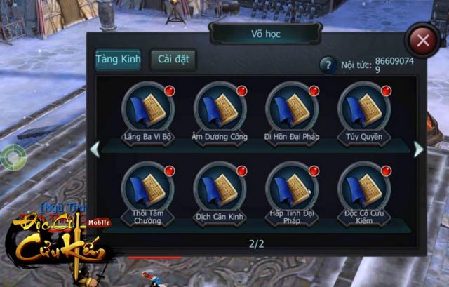 Tất cả tuyệt kỹ võ học trong truyện kiếm hiệp Kim Dung đều hội tụ và được nâng tầm trong Độc Cô Cửu Kiếm Mobile.