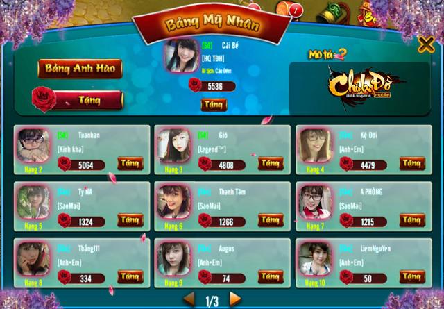 Trong Chinh Đồ Mobile, bất kỳ nữ nhi nào cũng có thể trở thành một Võ Tắc Thiên, hiệu triệu thiên hạ!
