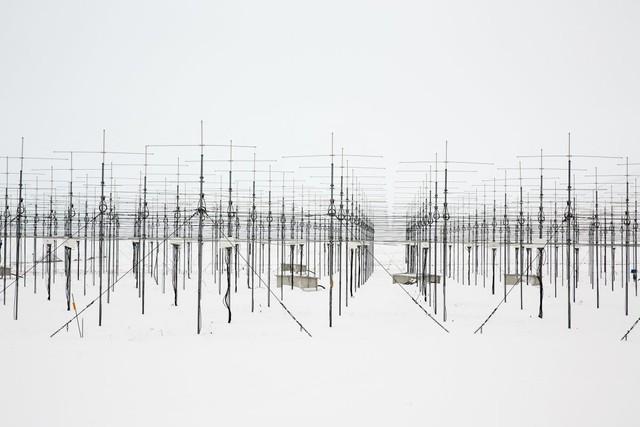 Các cột radar ở Ny-Ålesund.