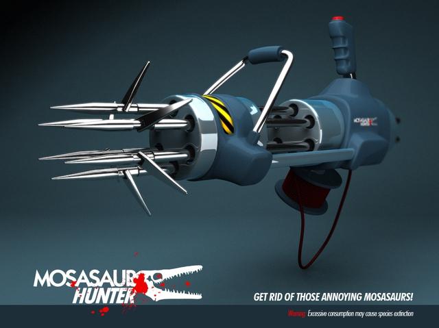 Bản vẽ 3D của Carlos Ortega Elizalde là cảm hứng để Jorg chế tạo ra khẩu súng săn khủng long