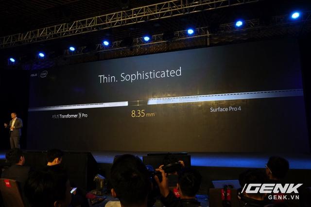 Máy tính bảng Transformer 3 Pro mỏng hơn Surface Pro 4?