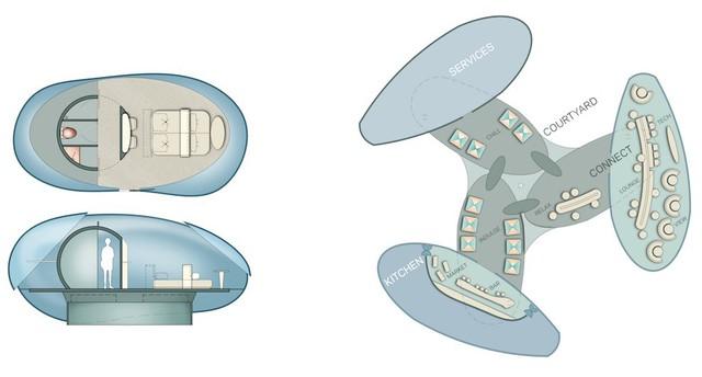 Cấu tạo, thiết kế dự kiến của các căn phòng tách/ghép với nhau