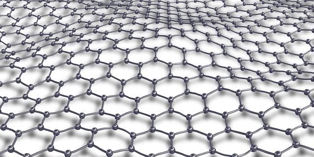 Mạng graphene gồm những nguyên tử carbon giống hệt nhau như thế này, nó có tính chất giống một kim loại hơn là chất bán dẫn