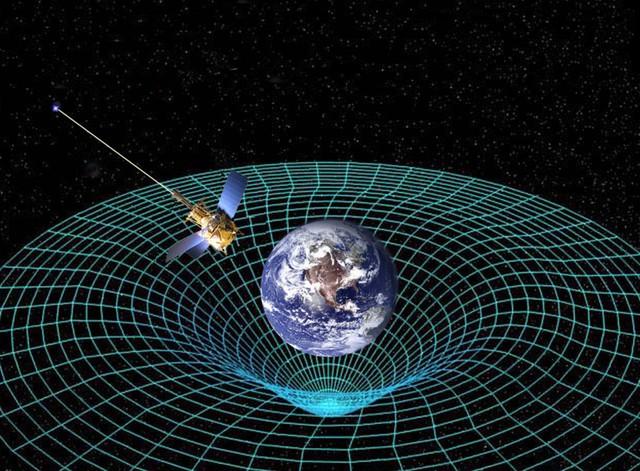 Lực hấp dẫn khiến không thời gian bị uốn cong