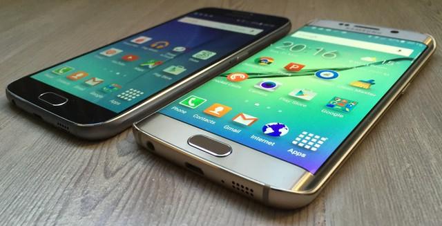 Bộ đôi Galaxy S6 và S6 Edge của Samsung.