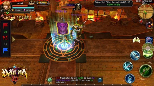 Chế độ cướp cờ MOBA trong Đấu Ma 3D