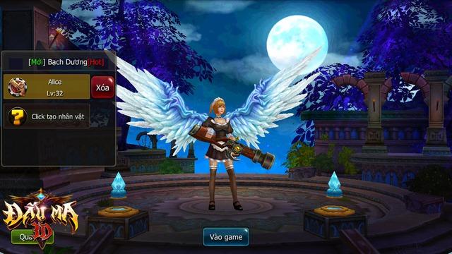 Bộ cánh của nhân vật trong Đấu Ma 3D tương đồng với MU Online