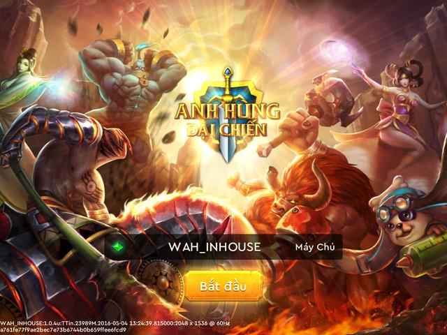 Giao diện của Anh Hùng Đại Chiến đã được Việt hóa và các tính năng đã được tối ưu hóa phù hợp với game thủ Việt