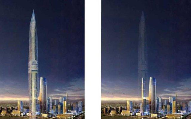 Tại 3 tầng cao khác nhau, hình ảnh sẽ được thu thập và thêu thành một bức màn duy nhất.