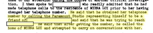 Trich dẫn hồ sơ FBI về Myrna Loy