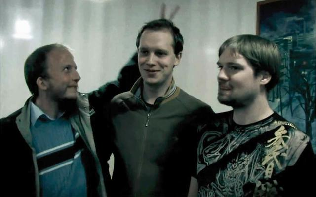 Ba nhà sáng lập của The Pirate Bay: Gottfrid Svartholm, Peter Sunde và Fredrik Neij (theo thứ tự từ trái sang phải).