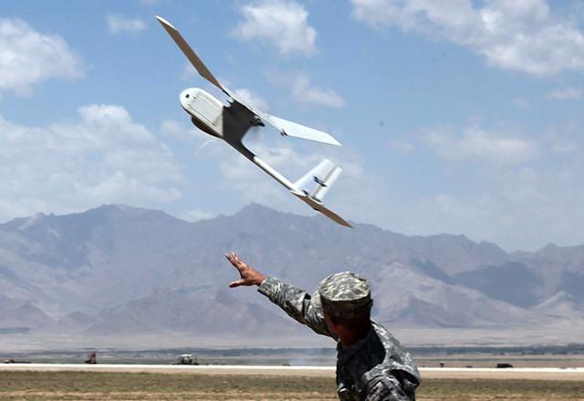 Mẫu máy bay không người lái RQ-11 Ravens thường được quân đội Mỹ sử dụng tại Trung Đông