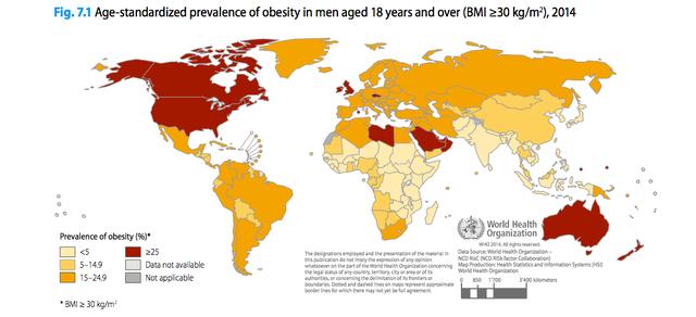 Tỉ lệ béo phí ở các quốc gia phát triển tăng nhanh trong hơn 50 năm qua