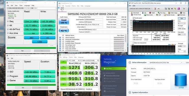 SSD Samsung PM951 đi kèm Mi Notebook Air