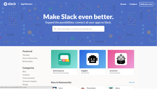 Kho ứng dụng tích hợp của Slack