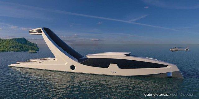 Điểm đáng chú ý nhất của Shaddai chính là phần mũi tàu độc đáo của nó. Nhà thiết kế người Ý Gabriele Teruzzi đã tạo ra concept thú vị này.