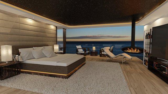 Có tổng cộng 6 cabin, du thuyền này phục vụ tối đa 12 khách và 11 thuyền viên. Nếu bạn đang dư 37 triệu USD thì có thể mua một chiếc vào năm 2018.