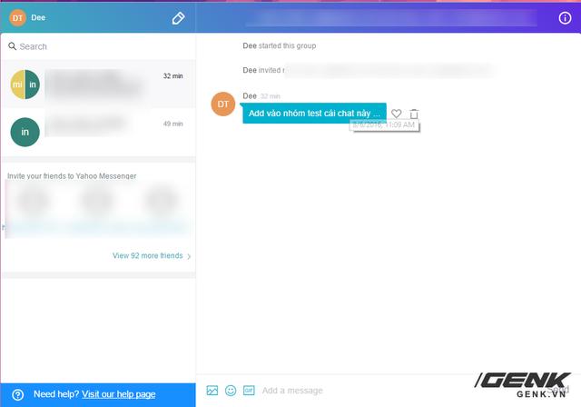 Giao diện mới của Yahoo! Messenger.
