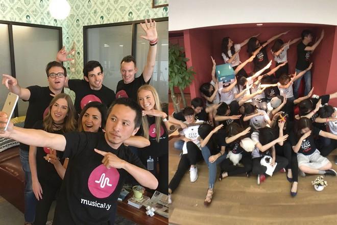 Đội ngũ Musical.ly ở hai chi nhánh Thượng Hải và San Francisco