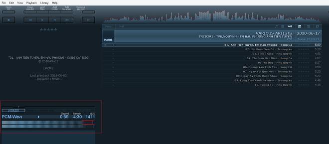File nhạc định dạng WAV với bit-rate chuẩn 1411 kpbs