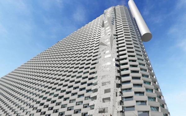 Ngắm nhìn bức tường leo núi cao nhất thế giới được xây dựng ngay trên một tòa nhà cao tầng