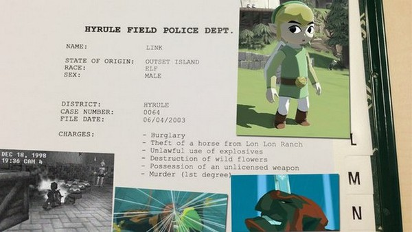 Biên bản phạm tội của những nhân vật trong game 1