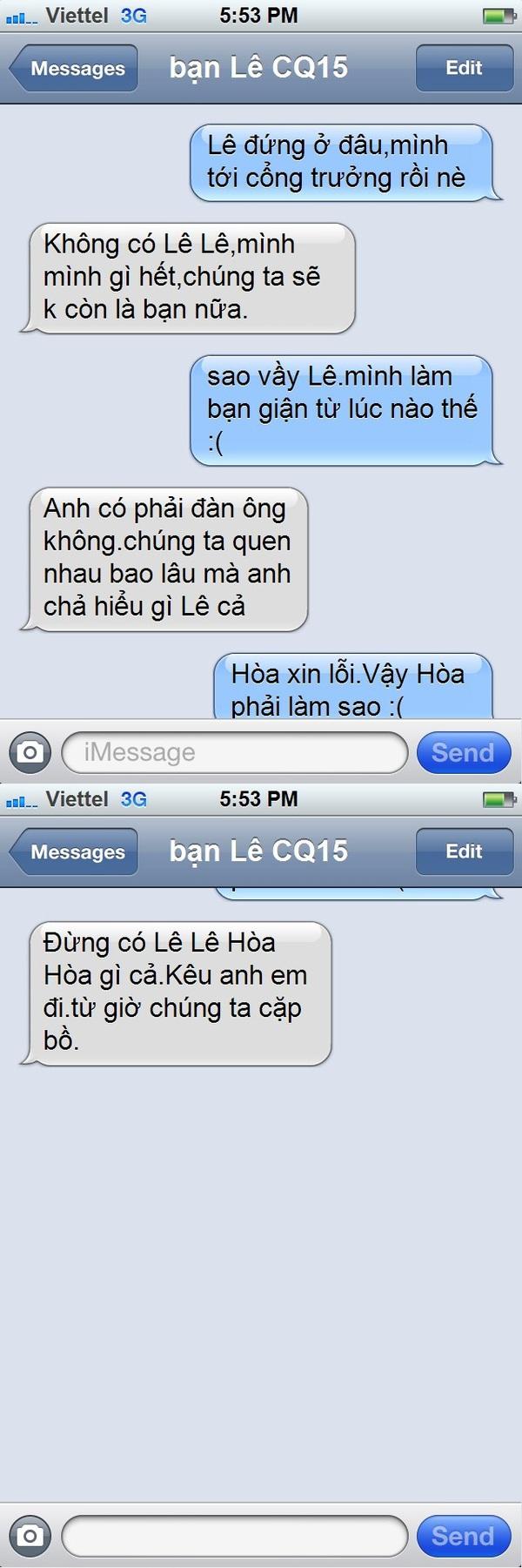Tin nhắn điện thoại chế: Khi con gái chủ động tấn công 1