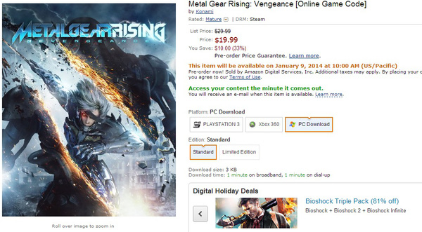 Metal Gear Rising: Revengeance phát hành ngày 9/1? 1