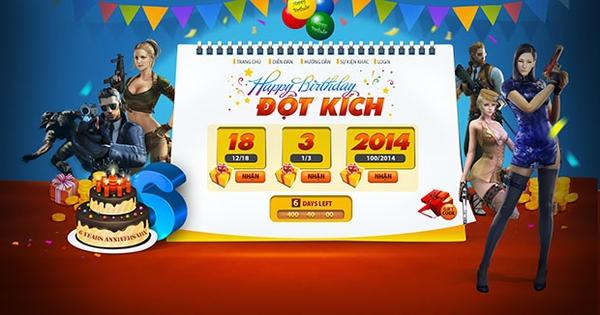 GameK gửi tặng 1000 Gift Code Đột Kích mừng sinh nhật 1