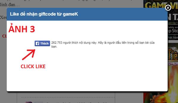 Hướng dẫn cách nhận Gift Code trên GameK 3