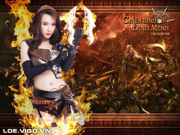 Angela Phương Trinh nóng bỏng với cosplay game 16+ Chiến Binh Định Mệnh 1
