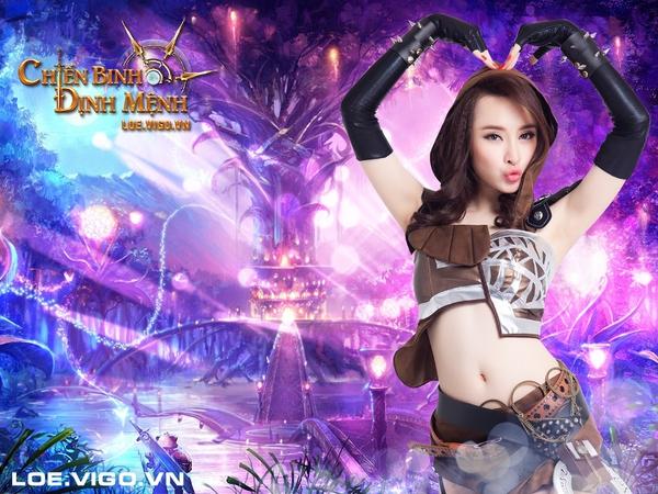 Angela Phương Trinh nóng bỏng với cosplay game 16+ Chiến Binh Định Mệnh 8