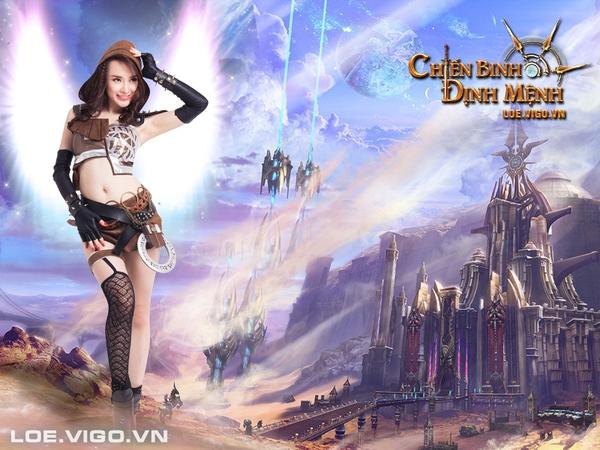 Angela Phương Trinh nóng bỏng với cosplay game 16+ Chiến Binh Định Mệnh 10