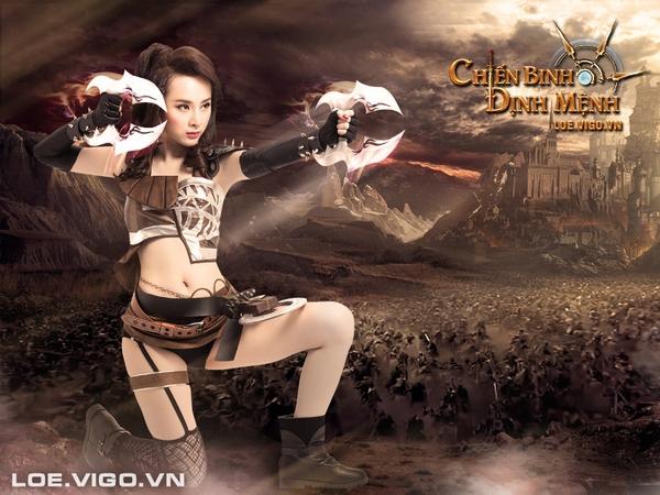 Angela Phương Trinh nóng bỏng với cosplay game 16+ Chiến Binh Định Mệnh 12