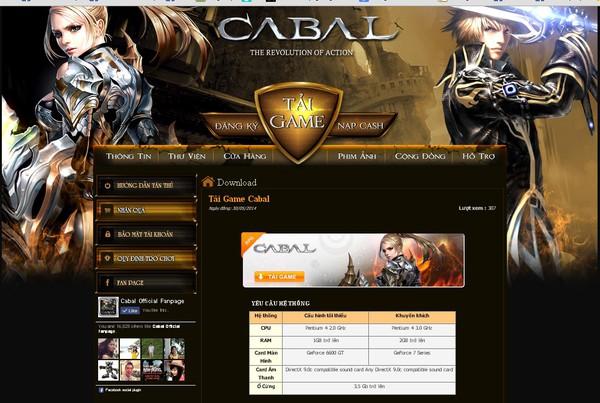 Cabal chính thức cho game thủ Việt download 2