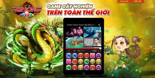 """Xếp Rồng – game """"hại não"""" tại Việt Nam chính thức tung teaser 1"""