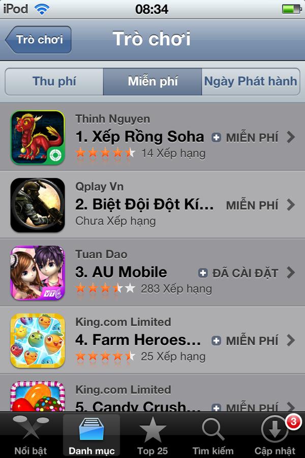 Vì sao Xếp Rồng Soha trở thành quán quân trên Apple Store sau 24h ra mắt? 8
