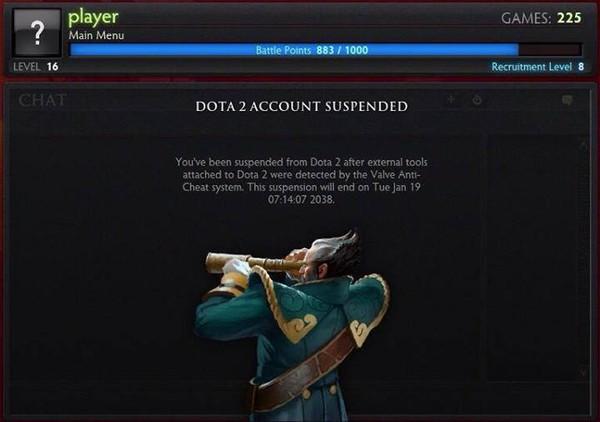 Những kẻ dùng tool hack DOTA 2 đã bị block... 24 năm 2